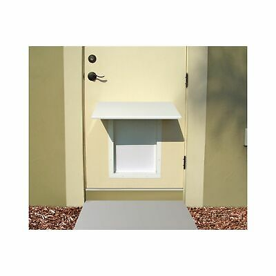 PlexiDor Pet Door Awning prevents rain,sun & wind from entering in S,M, or LG/XL