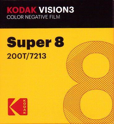 Kodak Vision 3 200T Super 8mm Color Negative Film (FRESH FROM THE FACTORY!)