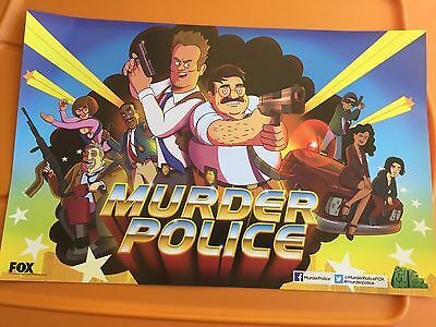 Murder Police Poster SDCC 2013 Fox Exclusive Animation Domination 11 X 17 Mint