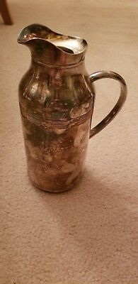 Vintage CHRISTOFLE Silver Plated Insulated Thermos Pitcher Tea Coffee