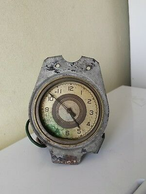 Antique Vintage American clock for car - MFD BY The GEO.W.BORG - Made in USA