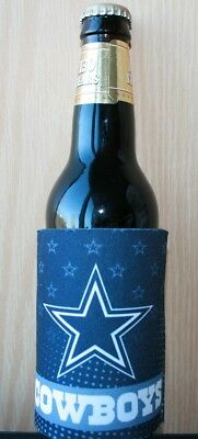 Dallas Cowboys 2Fer Can or Bottle Cooler, Coozie Insulator NFL Koozie