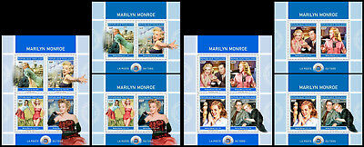 TOGO 2018 MNH (No.1+2) Marilyn Monroe Cinema Kino Music SET #425-26ca B