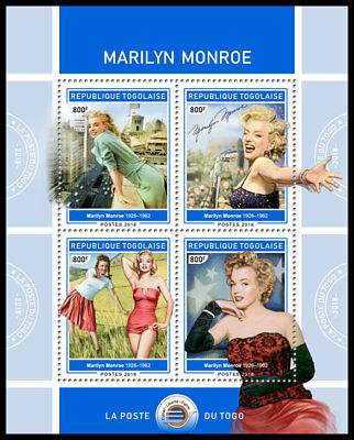 TOGO 2018 MNH (No.2) Marilyn Monroe Cinema Kino Music M/S #426a B