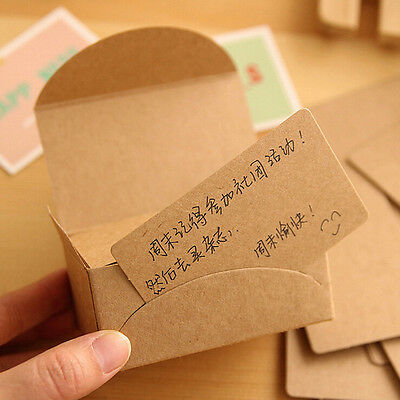 100pcs/pack Blank White Kraft Paper Business Notes Cards Message Label Bookmarks