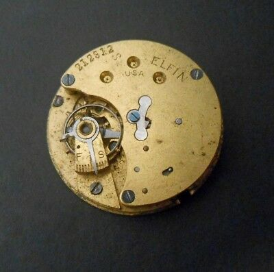 New England Watch Co Waterbury CT Elfin Movement Smallest Timepiece in America