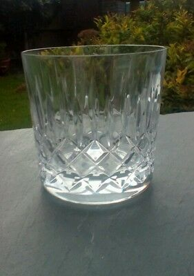 """Edinburgh Appin Cut Crystal Old fashioned whisky tumbler, signed, 3"""" tall"""