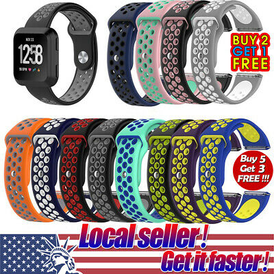 US Sport Silicone Wrist Band Watch Strap Bracelet For Fitbit Versa Versa Lite mr