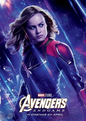 Avengers Endgame Movie 2019 Edition Characters Captain Marvel Poster