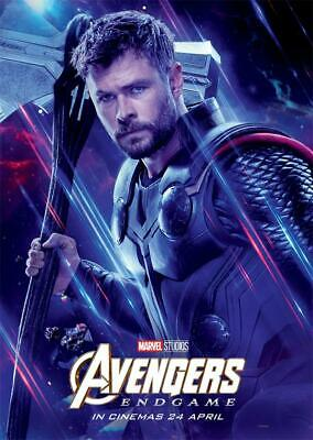 Avengers Endgame Movie 2019 Edition Characters Thor Poster