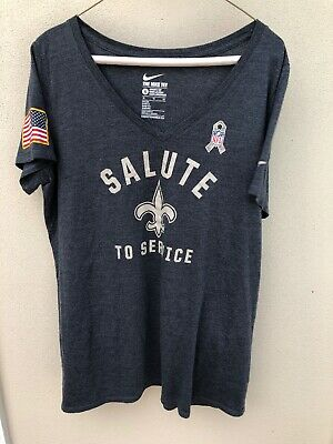 19cc2c9ba7f New Orleans Saints Women's Nike Nfl Salute To Service T-Shirt X Large-