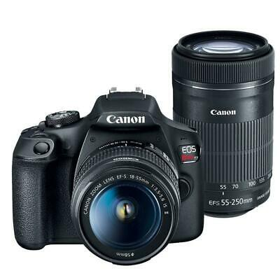 Canon EOS Rebel T7 Digital SLR Camera with 18-55mm and EF-S 55-250mm IS STM Lens