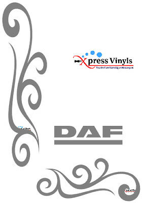 DAF window decals x 2. truck graphics stickers CF XF spacecab super space