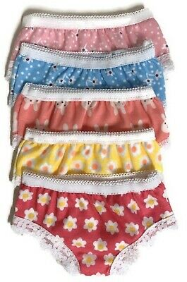 Print Panties-5 pack for 18 inch American Girl Doll Clothes Underwear