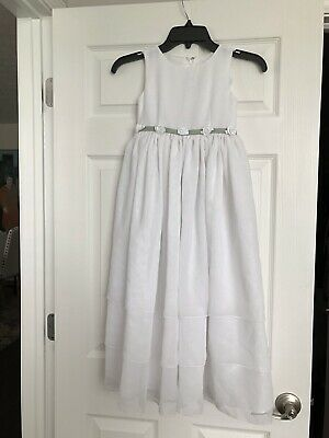 6073fb025d Sweet Beginnings Sz 6 White   Green Flower Girl Communion Easter Dress ...
