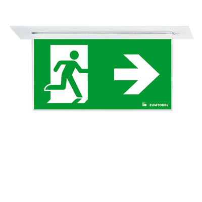 Zumtobel  Recessed Led Emergency Exit Light Running Man Sign