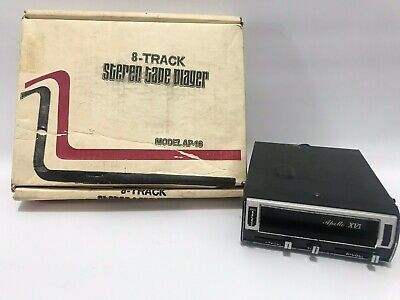 Vintage Apollo XVI 8 Track Car Stereo Player w/ Box Untested Used Electronics