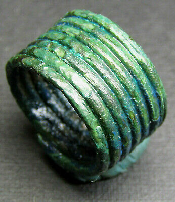 Ancient Bronze Viking Ring Super Patina W7.