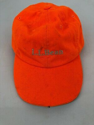 96655bcc3b5d7 LL Bean Flourescent Orange Pathfinder Led Light Hat Work Night Visibility  Cap M4