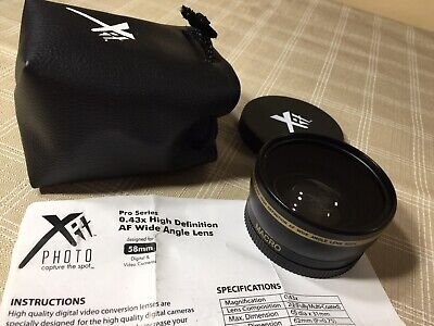 Xit 58mm 0.43 Wide Angle Lens+2.2X High definition AF telephoto Conversion Kit