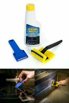 Ceramic Stove Top Cleaner Glass Kit With Pad Scraper Stainless Steel Cerama New