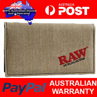 Raw Rolling Papers Smoking Wallet Eco friendly Hemp and Cotton Stylish Pouch