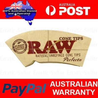 Raw Cone Perfecto Filter Tips Roach For Rolling Paper | Chlorine Free Natural
