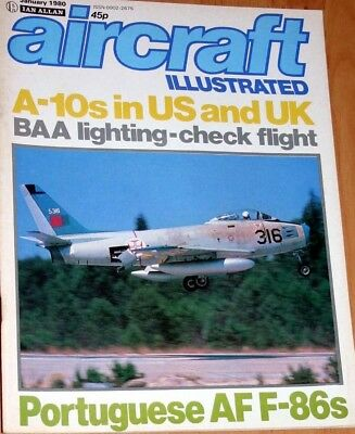 Aircraft Illustrated Magazine 1980 January Portuguese F-86,81st TFW Bentwaters