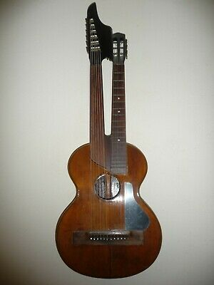 Antique Harp Guitar - Schrammelgitarre