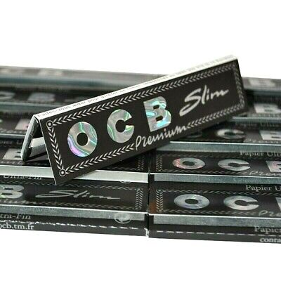 OCB King Size Slim Premium Black Rolling Papers Buy 4@$1.50/Pk! USA SHIPPED