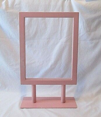 "Retail Store Pink Metal Counter Top Sign Holder 14"" x 11"""
