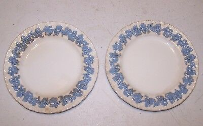 Wedgwood Queensware Lavender on Cream (Shell Edge) Bread Plate - Set of 2