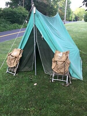 Vintage Boy Scout Voyageur Tent all Canvas Contruction Sleeps 3 Made in USA & VINTAGE BOY SCOUT Voyageur Tent all Canvas Contruction Sleeps 3 Made ...