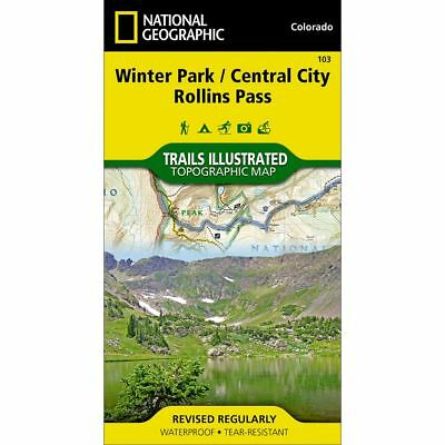 National Geographic Winter Park / Central City Trails Illus Topo Map -CO- #103