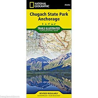 National Geographic Chugach State Park Trails Illus Topo Map - AK - Map # 764
