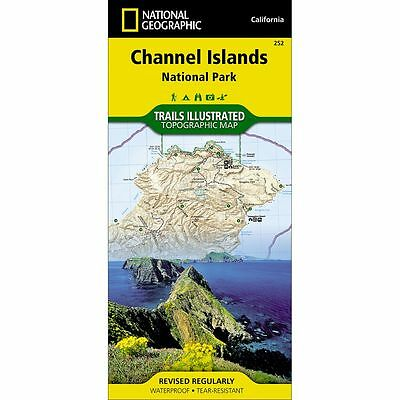 National Geographic Channel Islands NP Trails Illus Topo Map - CA - Map # 252