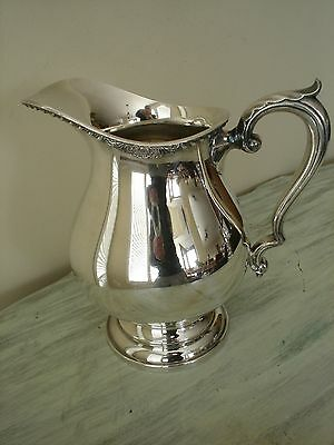 Elegant Wallace Silver Plate Large Silver Pitcher M608 Nice!