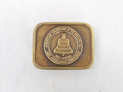 Bell System - Local and Long Distance Belt Buckle