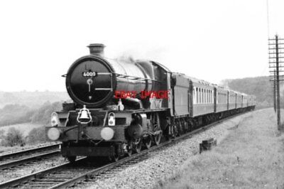 Photo  Gwr King Class Loco No 6000 King George V Nr Princes Risborough 1971