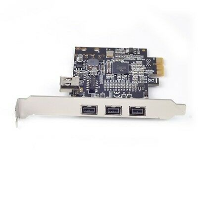 PCI-E x1 PCIe FireWire 1394a IEEE1394 3Port Expansion Controller Adapter Card GW