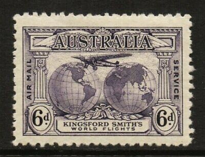 50% OFF! 1931 Kingsford Smith's Flights 6d Violet MLH *WITH ACSC VARIETY* SG 123