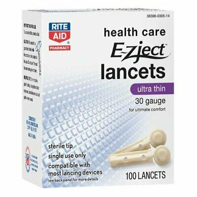4 boxes  Rite Aid  EZject Lancets  30 gauge   100 per box new- old stock
