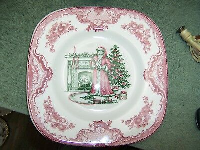 Johnson Brothers OLD BRITAIN CASTLES CHRISTMAS Square Accent Salad Plate