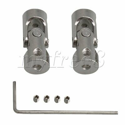 2x ID 2-3mm Steel Rotatable Motor Shaft Universal Joint Connector Coupler