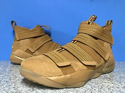 d9c37ae9bfc Nike Lebron Soldier XI 11 SFG Wheat Metallic Gold Brown 897646-700 Men s Sz  15