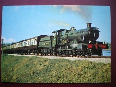 Postcard Rp Rail Gwr Manor Class Loco No 7827 'Lydham Manor'
