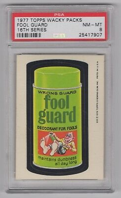 1977 Topps Wacky Packages Rare 16th Series * Fool Guard * PSA 8