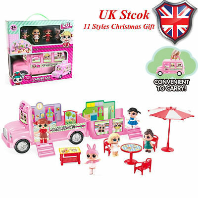Girls LOL Surprise Doll Camper Car Playset Bus Aircraft Dolls Toy Xmas Gift-op7