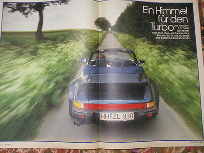 Poster 2 Pages Auto : Porsche 911 Turbo Cabriolet