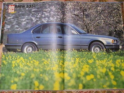 POSTER 2 PAGES AUTO : BMW 535i